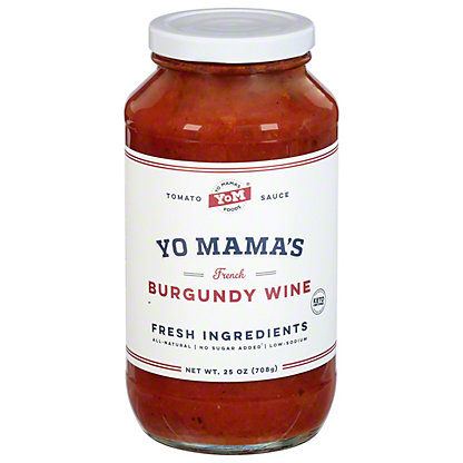 Yo Mama's French Burgundy Wine Tomato Sauce, 25 OZ