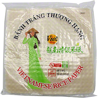 Viet Way Rice Paper 22CM Square, 12 oz