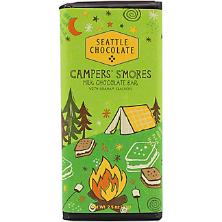 Seattle Chocolates Campers S'mores Bar, 2.5 oz