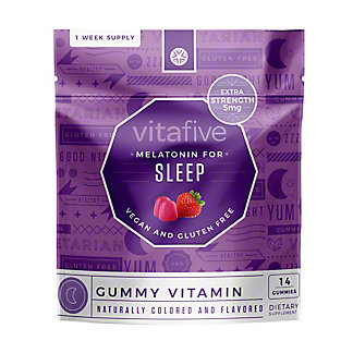 Vitafive Melatonin For Sleep Gummy Vitamin, 14 ct