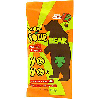 Bear YoYos Fruit Roll Apple Mango Sour, .7 oz