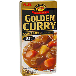 S & B Hot Golden Curry Sauce Mix, 3.2 oz