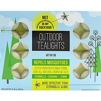 Not In My Backyard Essential Oil Tealights, ea