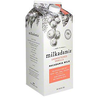 Milkadamia Unsweetened Vanilla Macadamia Milk, 64 OZ