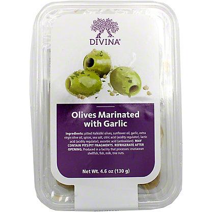 Divina Olives Garlic Marinated, 4.6 OZ