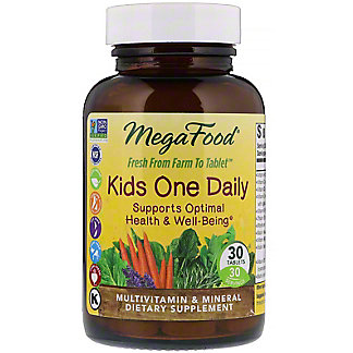 MegaFood Kids One Daily Multivitamin Tablets, 30 ct