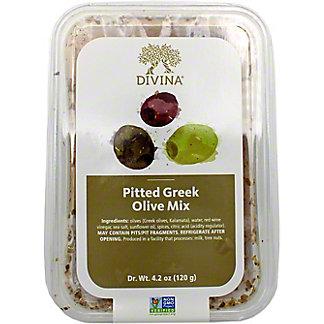 Divina Pitted Greek Olives Mix, 4.6 OZ
