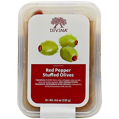 Divina Red Pepper Olives, 4.6 OZ