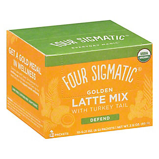 Four Sigmatic Mushroom Golden Latte With Shiitake & Turmeric, 10 ct