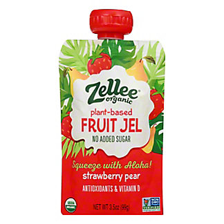 Zellee Fruit Gel Strawberry Pear, 3.5 OZ