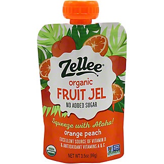 Zellee Fruit Gel Orange Peach, 3.5 OZ