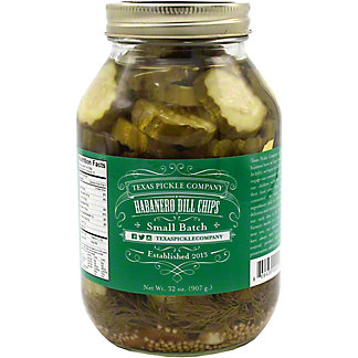 Texas Pickle Co. Texas Pickle Co. Habanero Dill Chip Pickles, 32 OZ