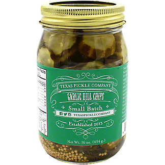 Texas Pickle Company Garlic Dill Chip Pickles, 16 oz