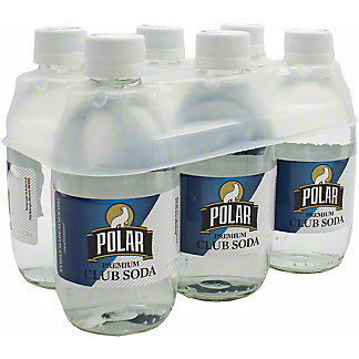 Polar Club Soda , 6 ct