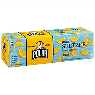 Polar Seltzer Lemon , 12 Pack