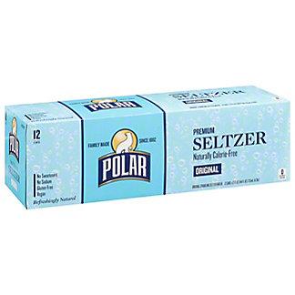Polar Seltzer Plain, 12 Pack