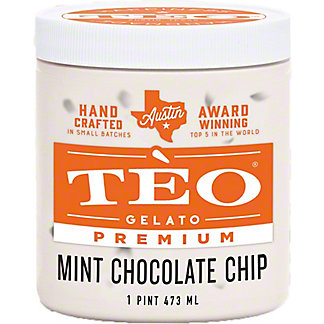 Teo Gelato Mint Chocolate Chip, 16 OZ
