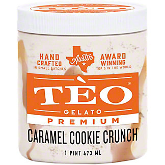 Teo Gelato Caramel Cookie Crunch, 16 OZ