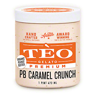 Teo Gelato Nutty Caramel Chip, 16 OZ