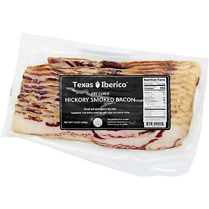 Texas Iberico Dry Cured Hickory Smoked Bacon, 14 OZ