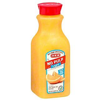 H-E-B Select IngredientsNo Pulp Light Orange Juice, 52 oz