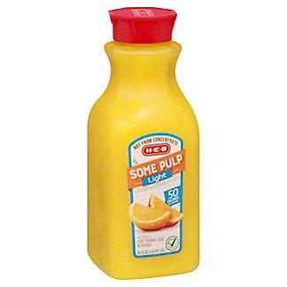 H-E-B Select Ingredients Some Pulp Light Orange Juice, 52 oz