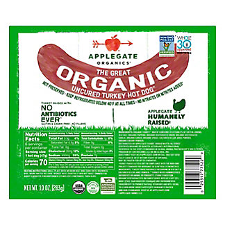 Applegate Organics Turkey Hot Dogs, 6 ct