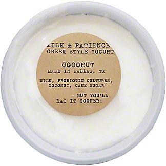 Milk & Patience Coconut Yogurt, 8 OZ