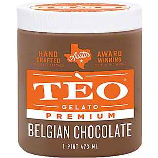 Teo Gelato Belgian Chocolate, 16 OZ