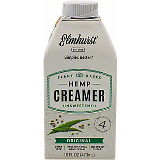Elmhurst Creamer Hemp Original Unsweetened, 16 OZ