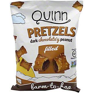 Quinn Filled Pretzels Dark Chocolate Peanut Butter, 6.5 oz