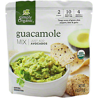 Simply Organic Guacamole Mix , 4 oz