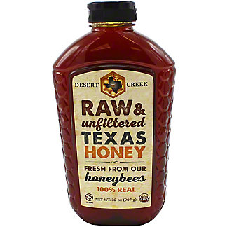 Desert Creek Raw Texas Unfiltered Honey , 32 oz