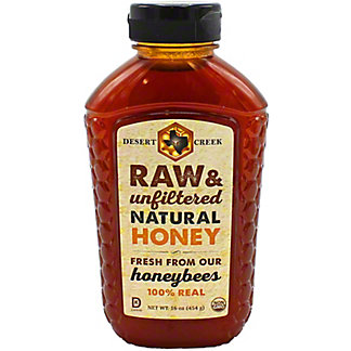 Desert Creek Raw Natural Honey, 16 oz