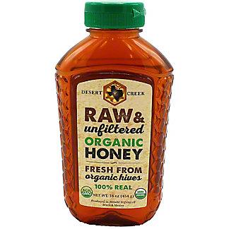 Desert Creek Honey Raw Organic Honey, 16 oz