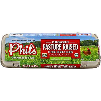 Phil's Fresh Eggs Large Pasture Raised Brown, 12 ct