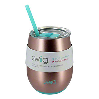 Swig Rose Gold Stemless Wine Cup, 14 oz