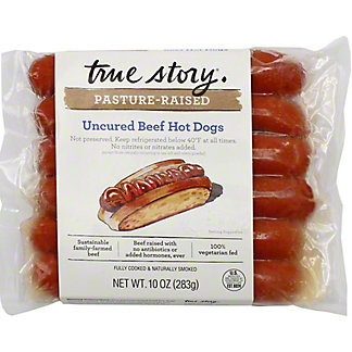 True Story Hot Dog Beef Uncured , 10 oz
