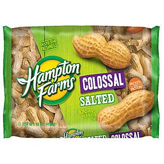 Hampton Farms Colossal Salted Roasted Peanuts, 16 oz