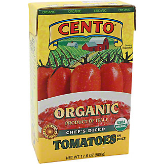 Cento Organics Diced Tomatoes In Juice, 17.6 oz