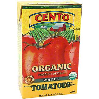 Cento Organics Whole Tomatoes In Juice, 17.6 oz