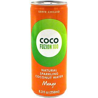 Coco Fuzion 100 Natural Sparkling Mango Coconut Water, 8.3 oz