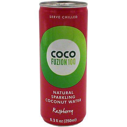 Coco Fuzion 100 Sparkling Raspberry Coconut Water, 8.3 oz