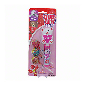 Flix Candy Valentines Love Of Pets Pop Ups Lollipop with Keeper, 1.26 oz