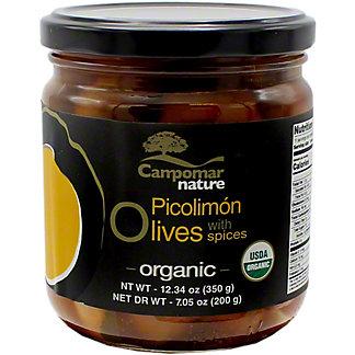 Campomar Nature Organic Picolimon Olives, 12.34 oz