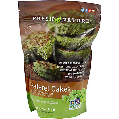 Fresh Nature Chickpea Cake Green Falafel, 12 oz