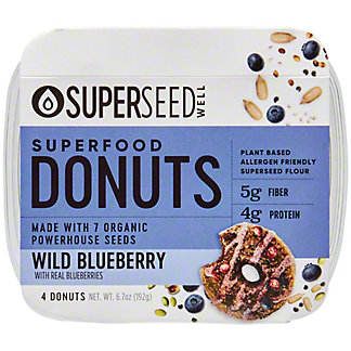 Superseed  Well Blueberry Donuts, 6.8 oz