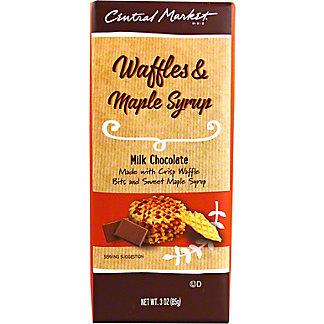 Central Market Waffles & Maple Milk Chocolate Bar, 3 oz