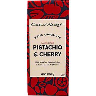 Central Market Italian Pistachio & Tart Wild Cherry White Chocolate Bar, 3 oz