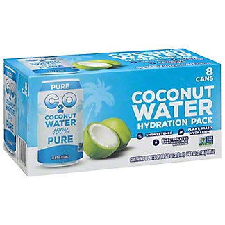 C2O Pure Coconut Water 10.5 oz Cans, 8 pk